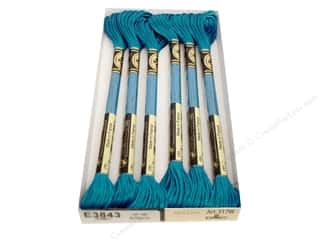 DMC Light Effects Embroidery Floss 8.7 yd. #E3843 Jewel Effects Light Blue Sapphire