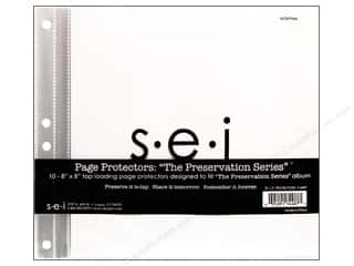 "Page Protectors Scrapbooking & Paper Crafts: SEI Page Protectors 8""x 8"" 10 pk"