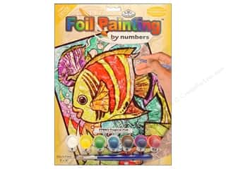 Beach & Nautical Crafting Kits: Royal Paint By Number Foil Tropical Fish