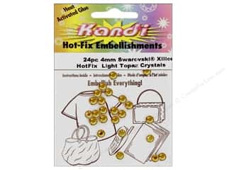 Heat Tools $24 - $28: Kandi Swarovski Crystal 4mm Light Topaz 24 pc