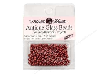 11/0 Glass Seed Beads by Mill Hill  Antique Cranberry