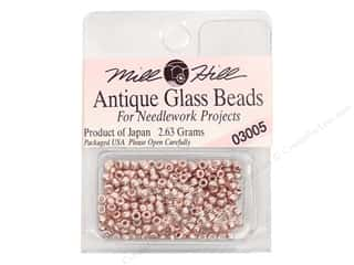 11/0 Glass Seed Beads Mill Hill  Antique Platinum Rose
