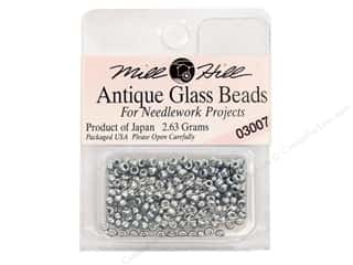 11/0 Glass Seed Beads by Mill Hill  Antique Silver