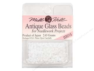 11/0 Glass Seed Beads by Mill Hill Antique Snow White