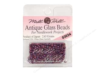 Stitchery, Embroidery, Cross Stitch & Needlepoint Mill Hill Glass Seed Bead 11/0: 11/0 Glass Seed Beads by Mill Hill  #3034 Antique Royal Amethyst