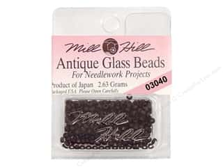 11/0 Glass Seed Beads by Mill Hill Antique Flat Black