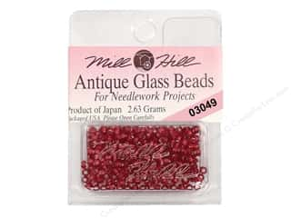 seed beads: 11/0 Glass Seed Beads by Mill Hill  Antique Rich Red