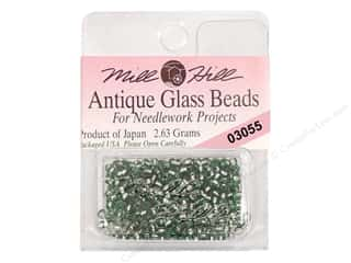 seed beads: 11/0 Glass Seed Beads by Mill Hill  #3055 Antique Bay Leaf
