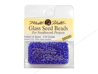 seed beads: 11/0 Glass Seed Beads by Mill Hill  Royal Blue