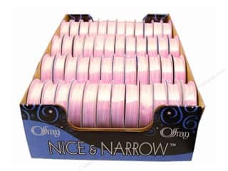 Offray Spool-O-Ribbon N&amp;N Mini Checks 1/4&quot; Pink (48 spools)