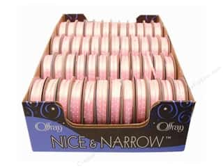 "Offray Spool-O-Ribbon N&N Mini Dots 1/8"" Pink (48 spools)"