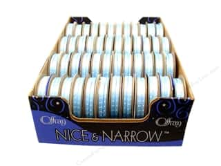 Offray Spool-O-Ribbon N&amp;N Mini Dots 1/8&quot; Blue (48 spools)
