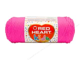 Light Worsted yarn: Red Heart Kids Yarn Pink