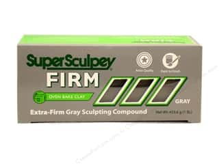 Clay & Modeling 1.75 lb: Super Sculpey Firm Clay 1 lb. Grey