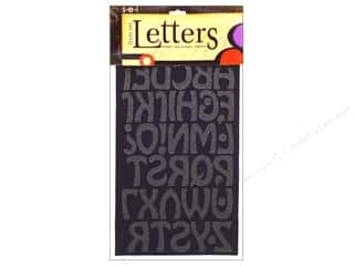 "Desiree's Designs: SEI Iron On Letters Cool 1.5"" Black"