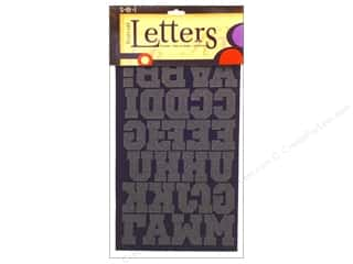 "SEI Iron-On Appliques: SEI Iron On Letters Sport 1.5"" Black"