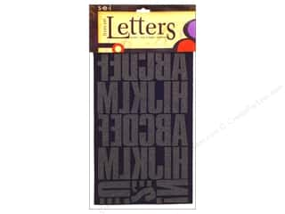 "Finishes ABC & 123: SEI Iron On Letters Block 2"" Black"