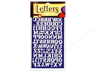 "Appliques ABC & 123: SEI Iron On Letters Chunky .75"" Blue"