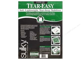 Interfacings Lightweight: Sulky Tear-Easy Stabilizer 20 in. x 3 yd. White