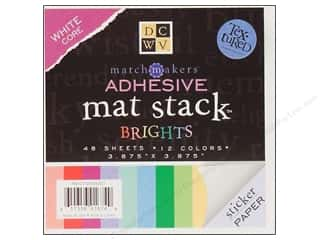 2013 Crafties - Best Scrapbooking Supply DieCuts Paper Stacks: DieCuts Adhesive Mat Stack Brights 3 7/8 x 3 7/8 in.