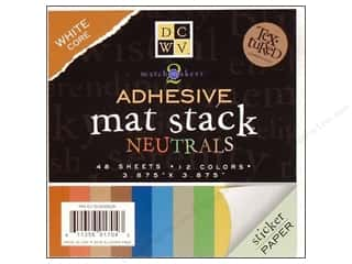 DieCuts Adhesive Mat Stack 3.875&quot;x 3.875&quot; Neutrals