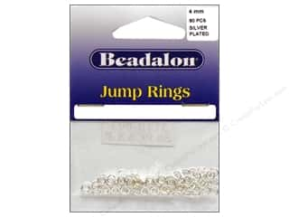 Jump Rings / Spring Rings: Beadalon Jump Rings 4 mm Silver 80 pc.