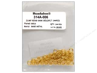 Beadalon Jump Rings/Spring Rings: Beadalon Jump Ring 6mm Gold 144 pc