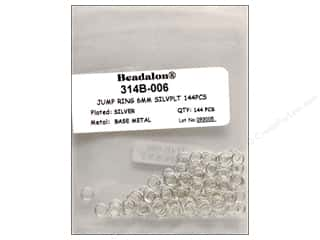 Jump Rings / Spring Rings: Beadalon Jump Rings 6 mm Silver 144 pc.
