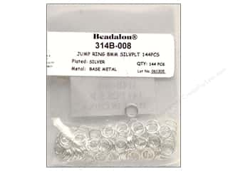 Jump Rings / Spring Rings: Beadalon Jump Rings 8 mm Silver 144 pc.