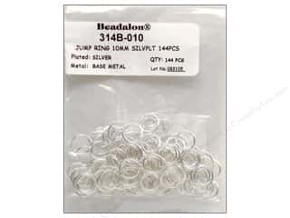 Beadalon Jump Ring 10mm Silver 144 pc