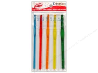 crochet hook acrylic: Bates Crystalites Crochet Hook Set G, H, I, J, K