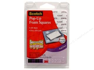 "Scotch Pop Up Foam Squares White 1/4"" 216 pc"