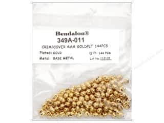 Beadalon Crimp Covers 4mm Gold 144pc.