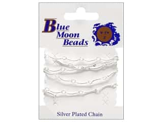 "Blue Moon Chain 30"" Wave Link Silver"