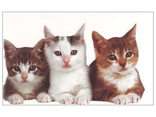 Note Cards & Envelopes: Paper House Diecut Card Three Kittens