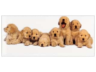 Note Cards & Envelopes: Paper House Diecut Card Golden Retriever Puppies