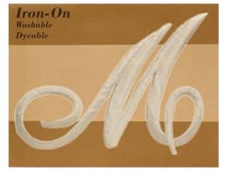 Novtex Monogram Iron-On Large Ivory M (3 pieces)