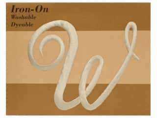 Novtex Monogram Iron-On Large Ivory W (3 pieces)