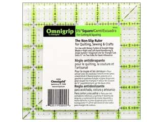 Omnigrid Omnigrip Non-Slip Neon Ruler 5.5&quot; Sq