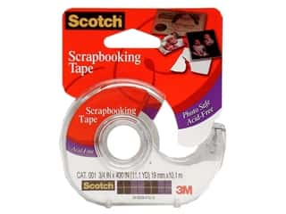 "Scotch Scotch Mounting: Scotch Tape Scrapbooking Single Side 3/4""x 400"""