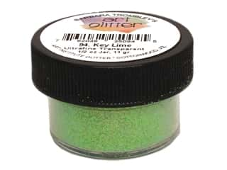 Clearance Art Institute Glitter .5 oz Ultrafine: Art Institute Glitter Ultrafine 1/2 oz. Transparent Key Lime