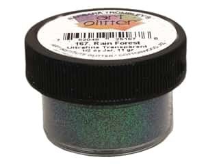 Clearance Art Institute Glitter .5 oz Ultrafine: Art Institute Glitter Ultrafine 1/2 oz.. Transparent Rain Forest