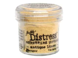 Embossing Aids: Ranger Embossing Powder Tim Holtz Distress 1oz Antique Linen