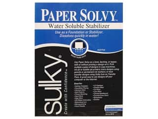 Madeira Thread Sew-In Interfacing / Sew-In Stabilizer: Sulky Paper Solvy 8 1/2 x 11 in. 12 pc.