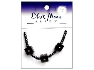 Blue Moon Beads Sparkling Cat's Eye 10mmmm Cube Black 3pc