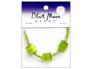 Blue Moon Beads Sparkling Cat's Eye 12mmmm Cube Green 3pc