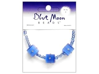 Blue Moon Beads Sparkling Cat's Eye 12mmmm Cube Blue 3pc