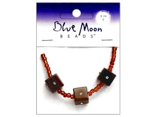 Blue Moon Beads Cat&#39;s Eye 12mm Cube Brown