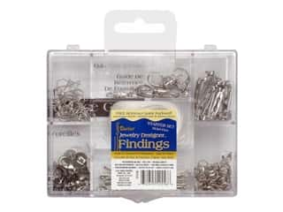 Finishes Beading & Jewelry Making Supplies: Darice Jewelry Designer Findings Starter Kit Silver