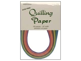 "Lake City Crafts inches: Lake City Crafts Quilling Paper 100pc 1/8"" Watercolor"